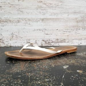 J. Crew Flip Flop Sandals Sz 7 Made in Italy